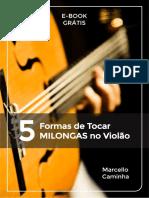 eBook 5 Formas de Tocar MILONGAS No Violão