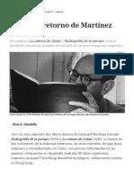 El Eterno Retorno de Martínez Estrada -Gandolfo