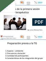 Estructura Primera Sesión Grupal