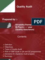 Quality Audit Shraddha