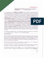 Contrato entre Odebrecht y DCS Management S.A de Madrid.
