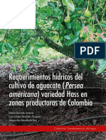 Requerimientos Hídricos Del Cultivo de Aguacate Persea Americana Variedad Hass en Zonas Productoras de Colombia.