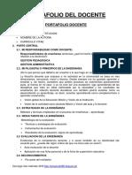 Portafolio Del Docente - Primaria 2018-Me