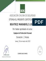 Certificado EPP