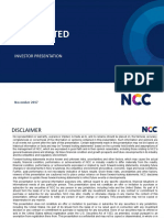 Ncc Investor Ppt