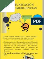 COMUNICACIÓN EN EMERGENCIAS