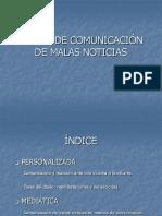 TALLER DE COMUNICACIÓN DE MALAS NOTICIAS