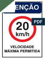 Placa - Velocidade Permitida