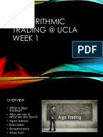 Algorithmic Trading Week 1