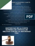 Sentencias de La Corte Suprema de Justicia en Delitos Contra La Seguridad Víal