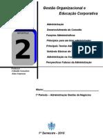 APOSTILA 2 - ORGANIZAÇÃO DE EMPRESAS