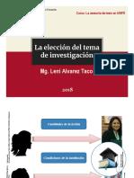 Elección Tema de Investigacion
