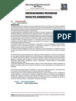 Especificaciones Tecnicas Impacto Ambiental