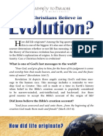 Can Christians Believe in Evolution?