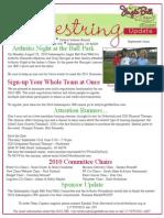 Shoestring, Indiana Jingle Bell Run/Walk Kick-off e-newsletter September issue