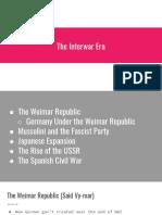 the interwar era notes