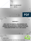 A Case Study Based on FIDIC and PAM Form 2006