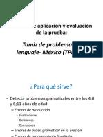 Manual General Para La Aplicación y Calificación de TPL-México