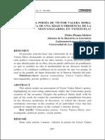 La poesía de Victor Valera Mora. Crónica de una edad o presencia de la neovanguardia en Venezuela. Pedro Pisanu Molero..pdf