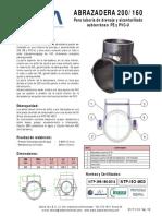 AISA - Ficha Tecnica - Abrazadera 200-160 - Alcantarillado V10..pdf