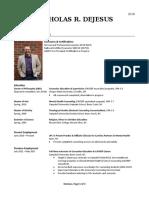 nrd - professional resume