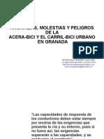 Anomalías, molestias y peligros de la acera-bici y el carril-bici urbano de Granada