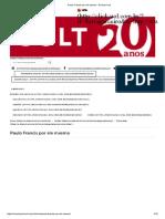 Paulo Francis Por Ele Mesmo - Revista Cult