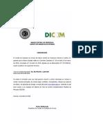 Octava subasta Dicom. Comunicado del Banco Central de Venezuela