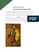Organizacion Social de La Antigua China Historia Universal - Por