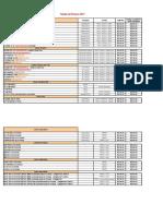 Cabrera Tabela Preços 2017 Loja