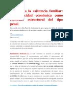 Omisión a La Asistencia Familiar La Capacidad Económica Como Elemento Estructural Del Tipo Penal