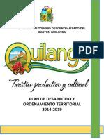 PDOT Parroquia Quilanga 2014 2019