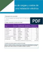 Analisis de cargas y costos de una instalacion electrica en el hogar