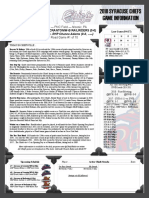 Syracuse Chiefs Game Notes 4-6-18