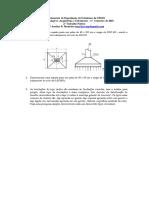 Exercícios Fundações Arquitetura UFMG