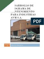 Desarrollo de Programa de Mantenimiento Para Industrias Avm s.a.