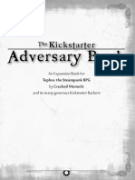 Kick Starter Adversary Book