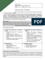 Roteiro de estudos e revisão - 2a certificação
