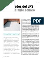 Propiedades Del EPS Como Aislante Sonoro -Arte y Cemento (Abril 11)