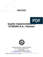 Quality Implementation at CITIBANK_Ehsaan Uddin Ahmed