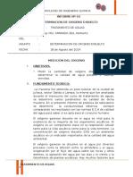Informe Nº 03 Oxigeno disuelto