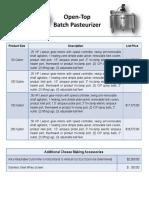 Batch Pasteurizer Pricelist 2017