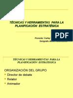 Técnicas y Herramientas para la Planificación Estratégica