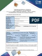 Guía de Actividades y Rúbrica de Evaluación Fase 3 Realizar El Modelamiento Cinemático de Un Sistema Robótico