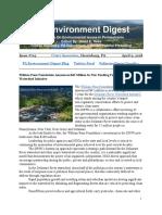 Pa Environment Digest April 9, 2018