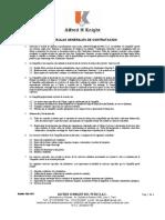 Terminos y Condiciones de Trabajo 2014