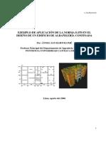 EJEMPLO DE APLICACIÓN DE LA NORMA E.070 EN EL DISEÑO DE UN EDIFICIO DE ALBAÑILERÍA CONFINADA