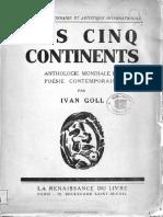 Les Cinq Continents Antologie Mondiale de Poésie Contemporaine