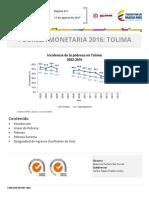 Tolima Pobreza 2016