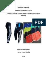 Capacitación de Confeccion de Pantalones y Short Deportivos Unisex
